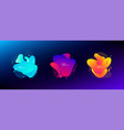 abstract liquid shape fluid design light and vector image vector image