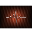 abstract red cardio vector image vector image