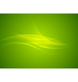 Abstract shiny green waves modern background vector image vector image
