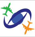 Airplane Travel Symbol vector image vector image