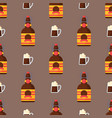 alcohol drinks seamless pattern beverages cocktail vector image vector image