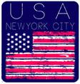 american grunge flag an american grunge flag vector image