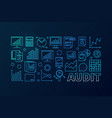 audit concept blue business vector image vector image