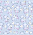 babear blue seamless pattern vector image vector image
