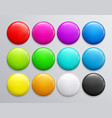 big set of colorful glossy badge or button vector image