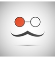 black hat and mustache on a white vector image