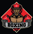 boxing club badge vector image vector image