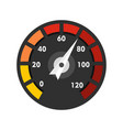car speedometer icon flat style vector image vector image