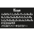 Chalk cyrillic alphabet coffee vector image vector image