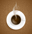 Coffee with Coffee beans background vector image vector image
