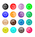 Collection of 16 Power or Shut Down Icons vector image vector image