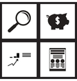 Concept flat icons in black and white economy vector image vector image
