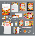 corporate identity template thanksgiving design vector image vector image