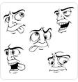 Crazy emotions - set vector image