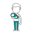 dad and baby design vector image vector image