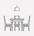 dining room icon line element vector image