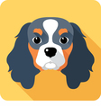 dog Cavalier King Charles Spaniel icon flat design vector image vector image