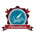 Education icon or emblem vector image vector image