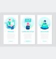 effective work - set flat design style banners vector image vector image
