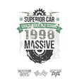Emblem of the massive superior car in retro style vector image vector image