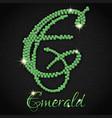 emeralds on black denim vector image vector image