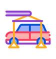 evacuating car icon outline vector image