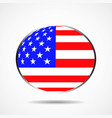 flag of the united states in form globe vector image vector image