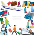 flat airport colorful template vector image