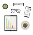 flat lay business layout vector image vector image