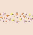 Flower pattern Spring hand-drawn doodle vector image vector image