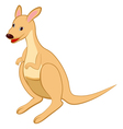 Funny Cartoon Kangaroo vector image