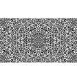 Intricate fantasy black seamless pattern vector image vector image