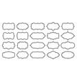 label line border blank frame card sale text set vector image vector image