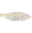 lasik surgery terms you should know text vector image vector image