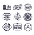 logo for car repair service station maintenance vector image vector image