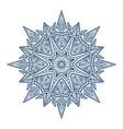 mandala black new 5 vector image vector image