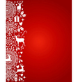 Merry Christmas elements red postcard file vector image vector image