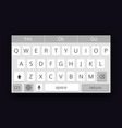 mobile qwerty keyboard vector image