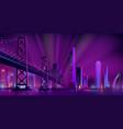 modern night city landscape background vector image vector image