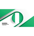 nigeria independence day background vector image vector image
