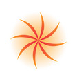 orange swirl leaves logo vector image vector image