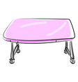 pink table on white background vector image vector image