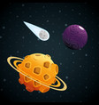 planets of the solar system scene vector image