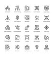 project management line icons set 5