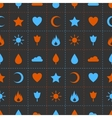 Random abstract icons seamless pattern vector image vector image