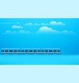 retro train on way with clouds vector image