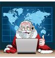 Santa Claus on duty vector image vector image