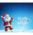 Santa Claus walks in 2015 vector image vector image