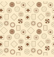seamless pattern of cookies vector image vector image