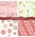 set 4 floral patterns vector image